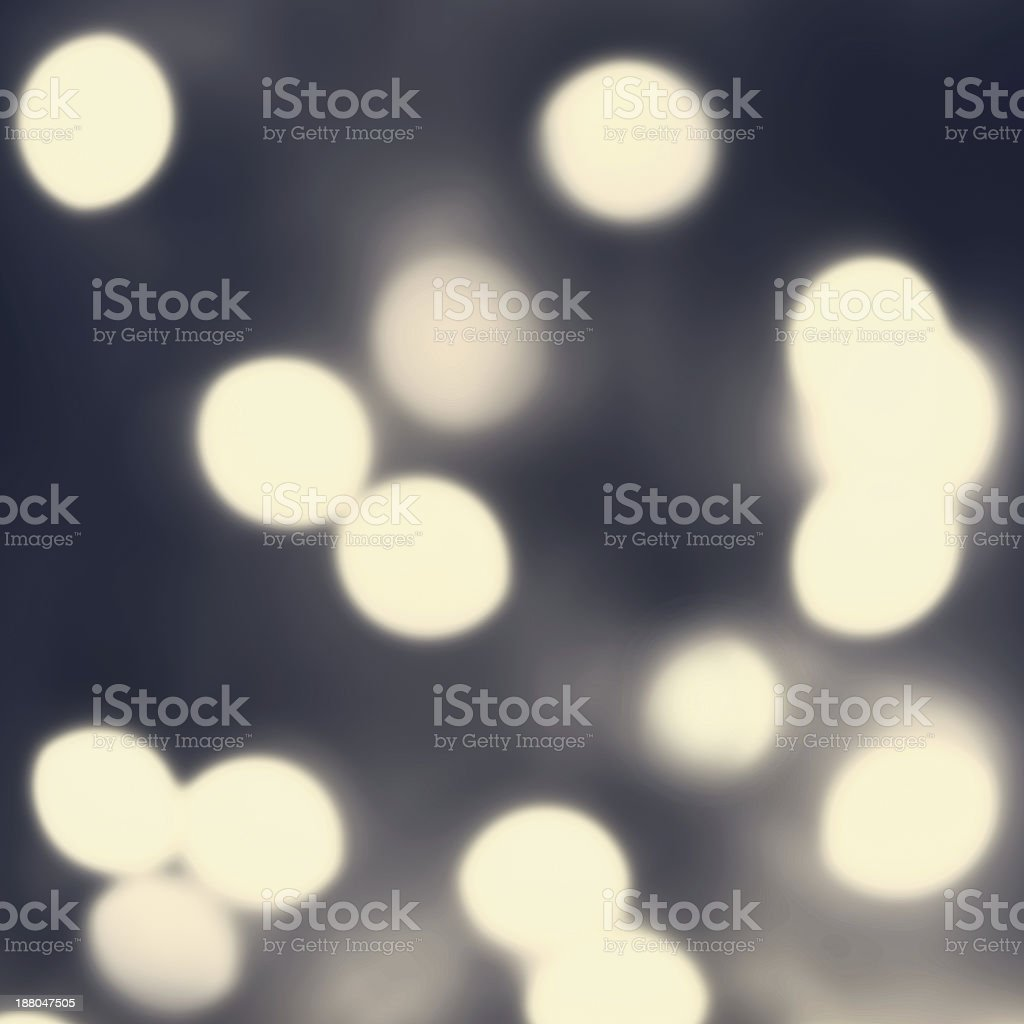 Dark Night Abstract defocused lights bokeh background with  glow royalty-free stock photo