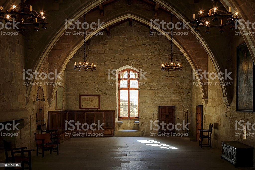 Dark old room stock photo