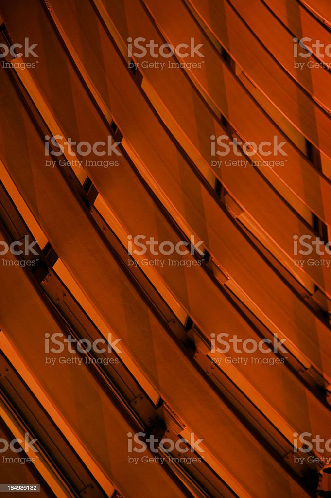 Dark orange curved abstract. royalty-free stock photo