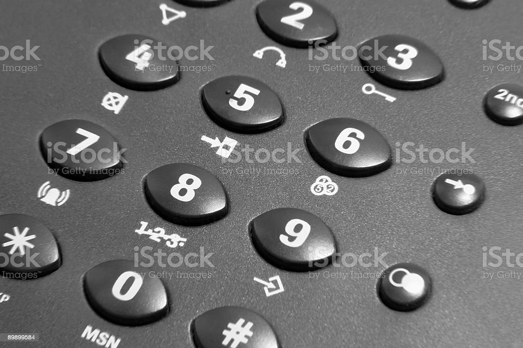 dark phone keypad royalty-free stock photo