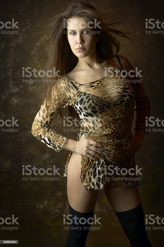 Dark portrait royalty-free stock photo