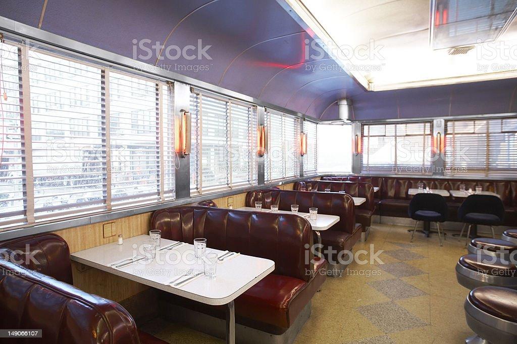Dark Purple Diner Booths stock photo