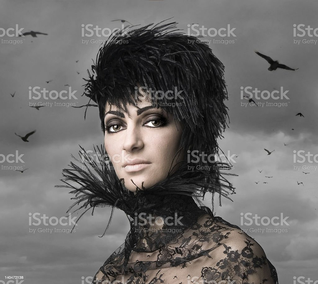 Dark Queen royalty-free stock photo