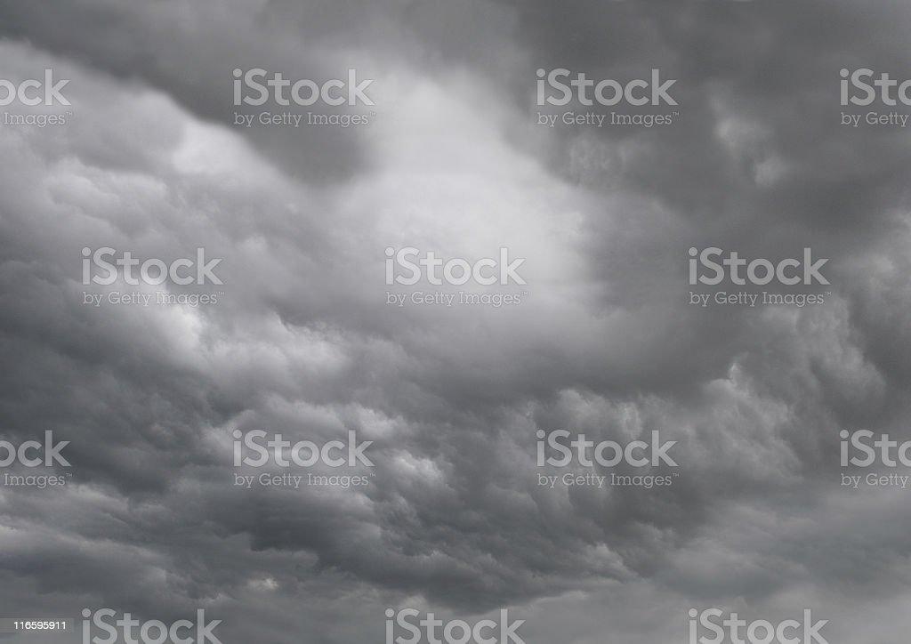 Dark rain and thunderstorm clouds royalty-free stock photo