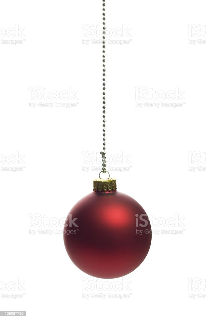 Dark red christmas ball royalty-free stock photo