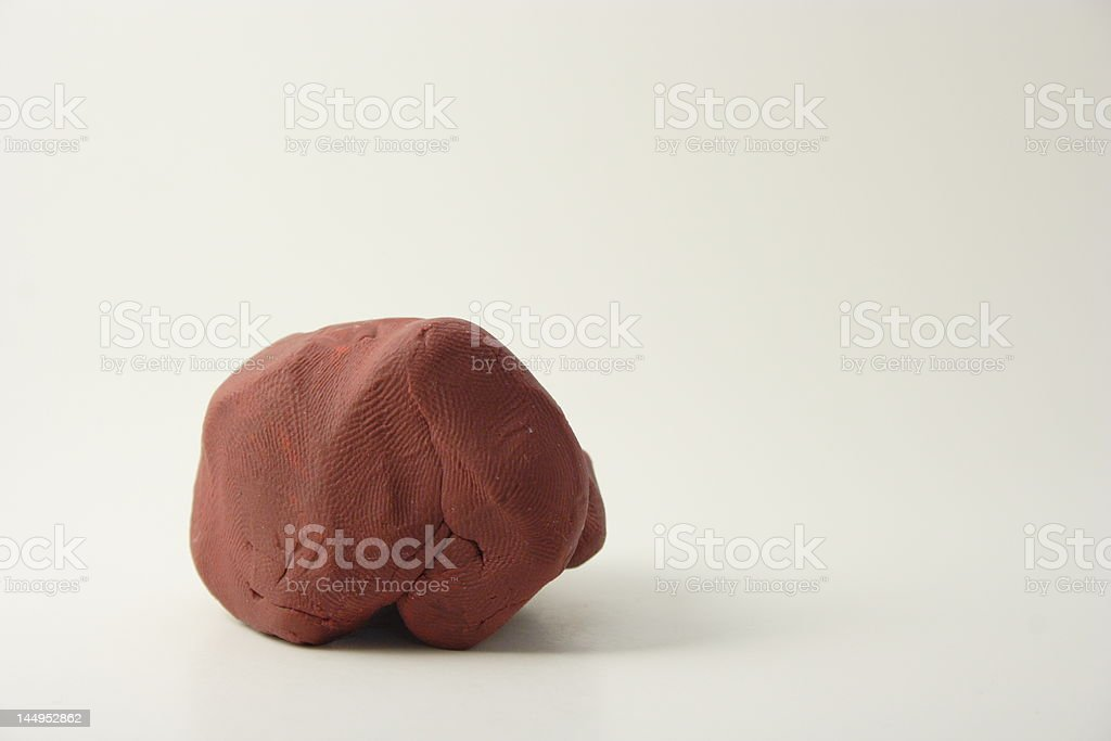 Dark Red Clay royalty-free stock photo