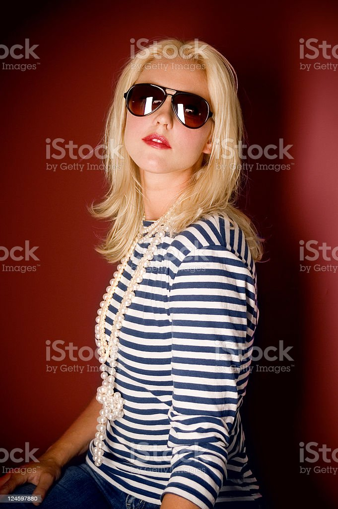 Dark Red Fashion Portrait royalty-free stock photo