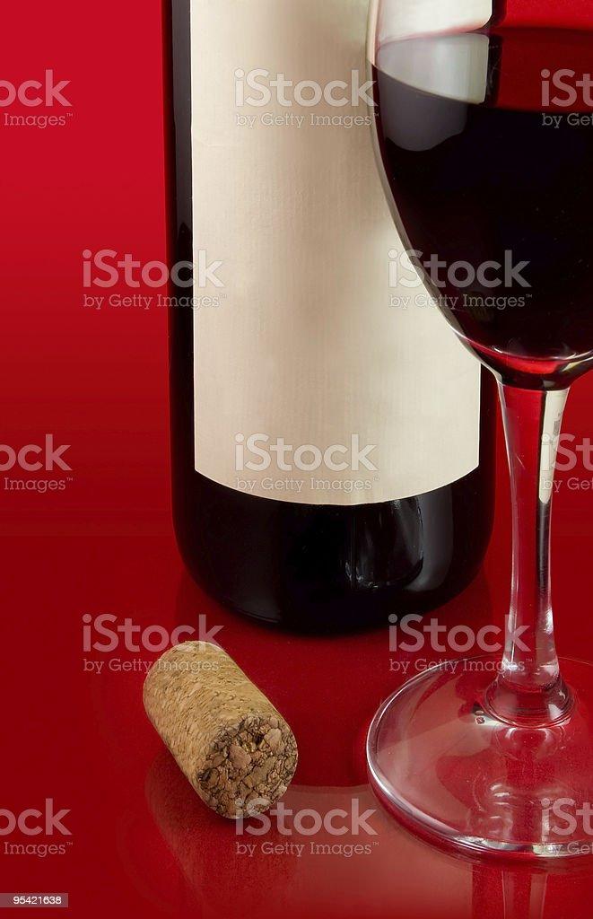 Dark red wine royalty-free stock photo