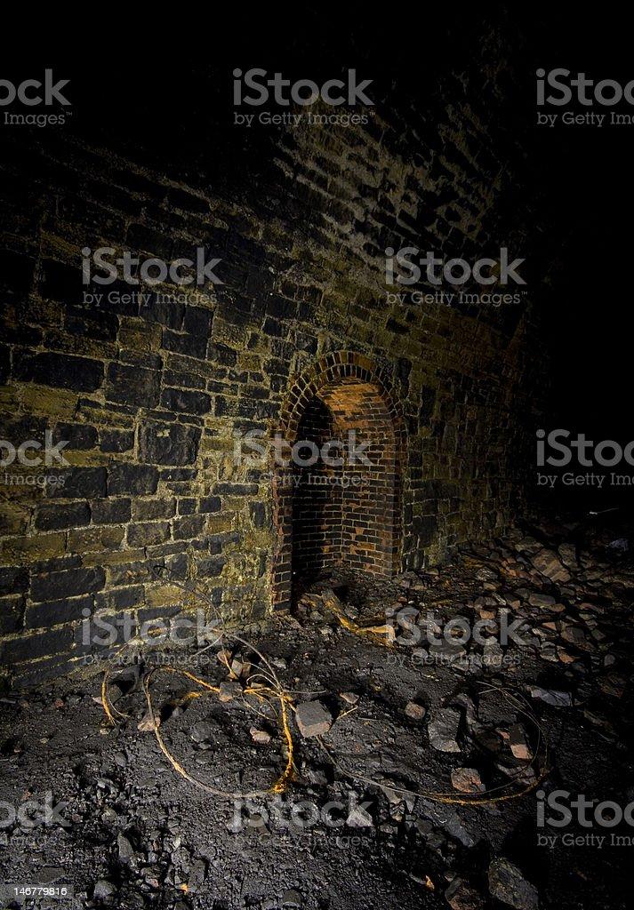 Dark refuge Railway Tunnels stock photo