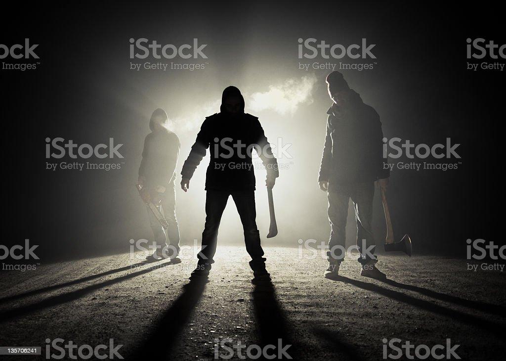 Dark roadside killers stock photo