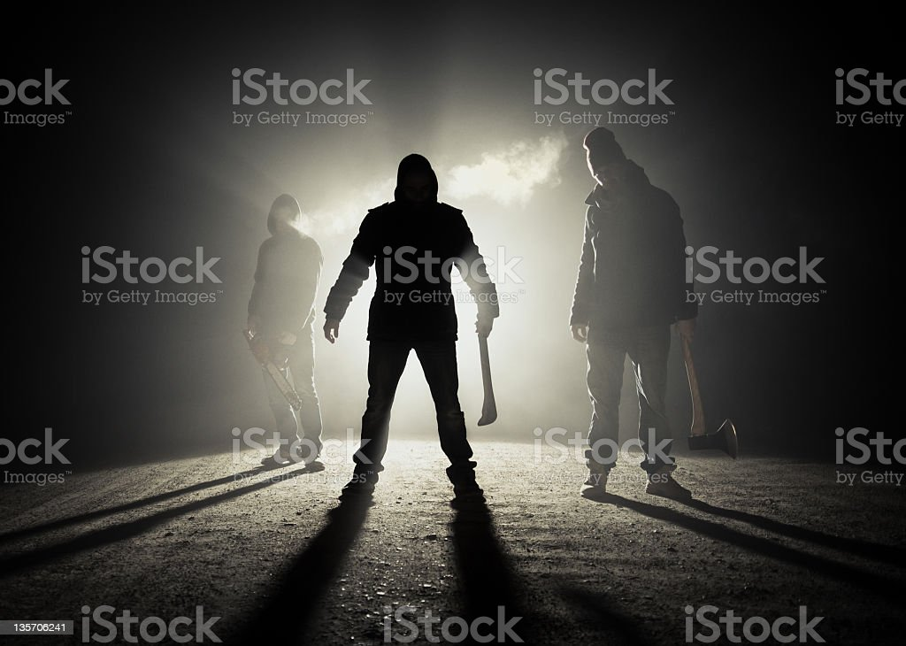 Dark roadside killers stock photo