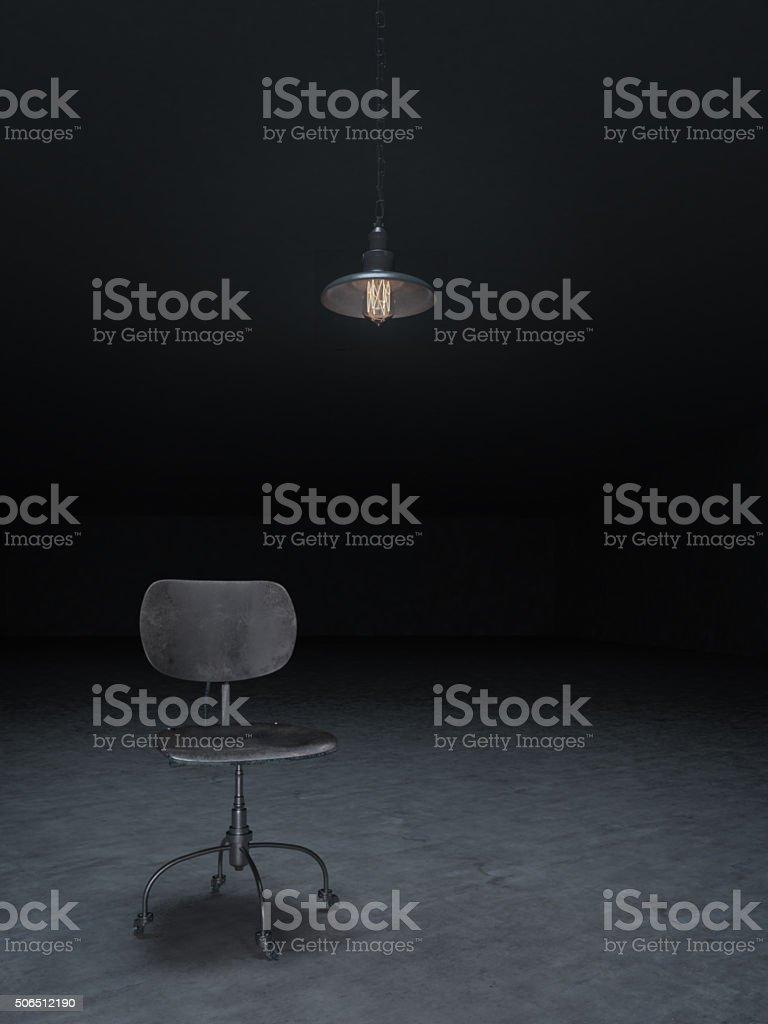 Dark room for examination stock photo