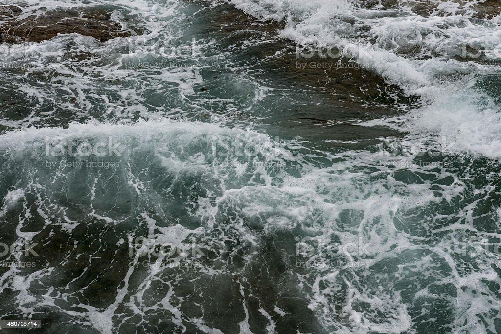 Dark rough sea stock photo