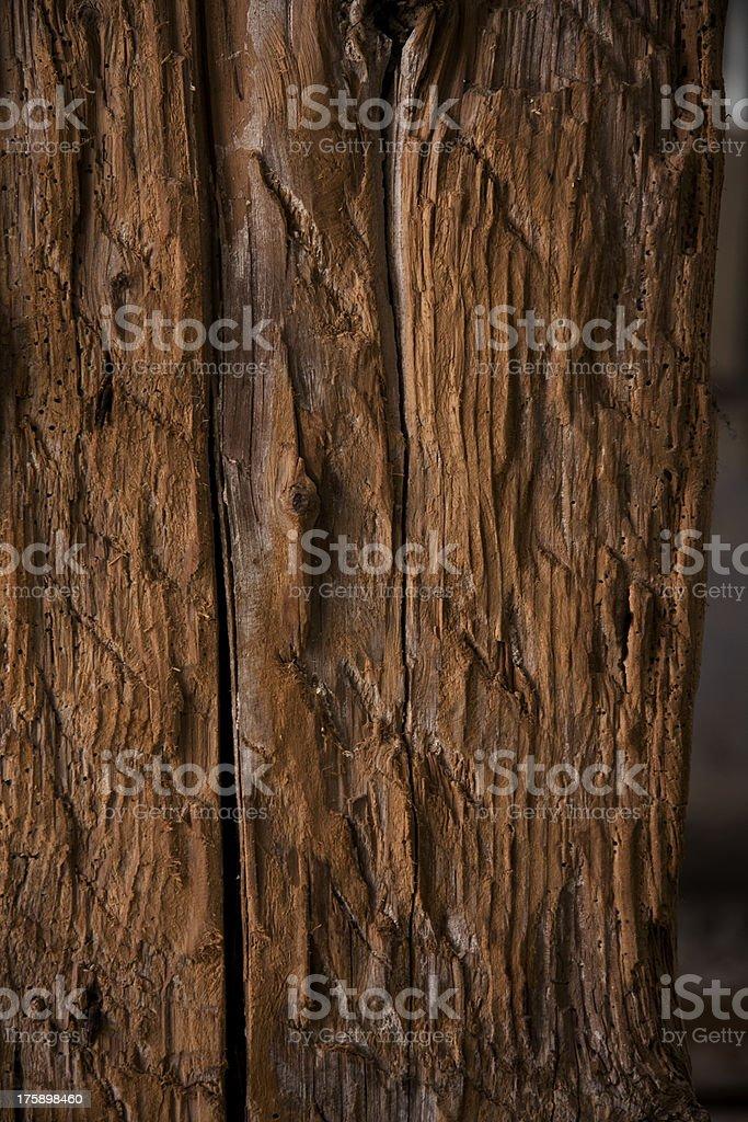 Dark rough wood royalty-free stock photo