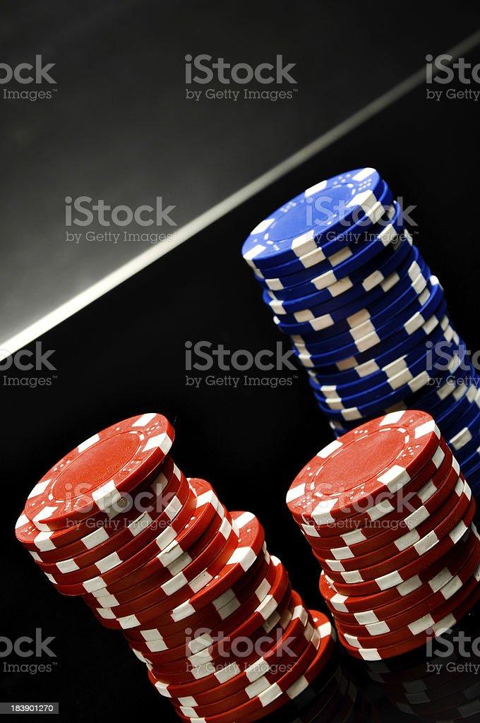 Dark roulette, casino theme with gambling stuff royalty-free stock photo