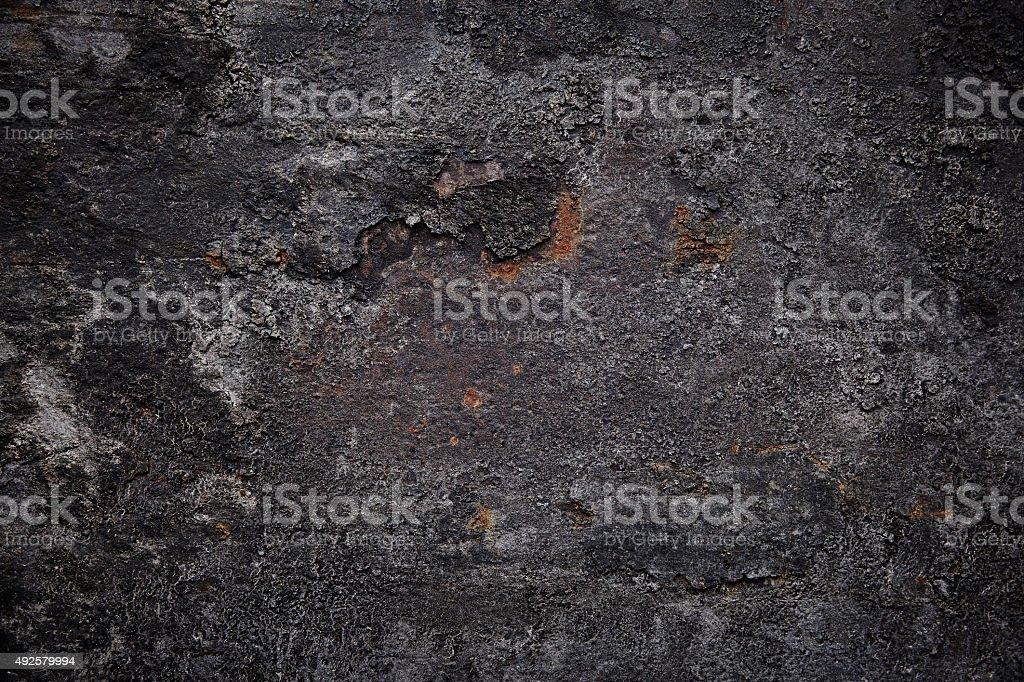 Dark rusty metal surface stock photo