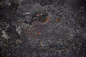Dark rusty metal surface