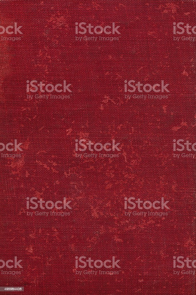 Dark scarlet red linen background with aged texture stock photo