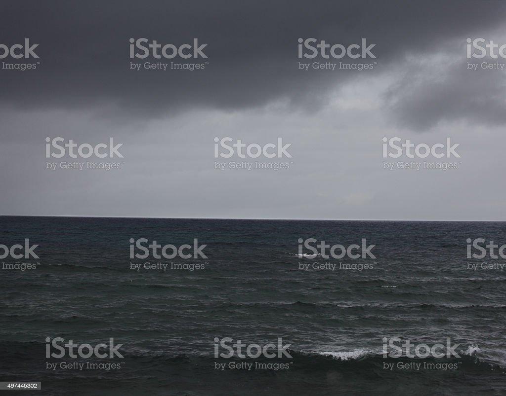 Dark sea stock photo