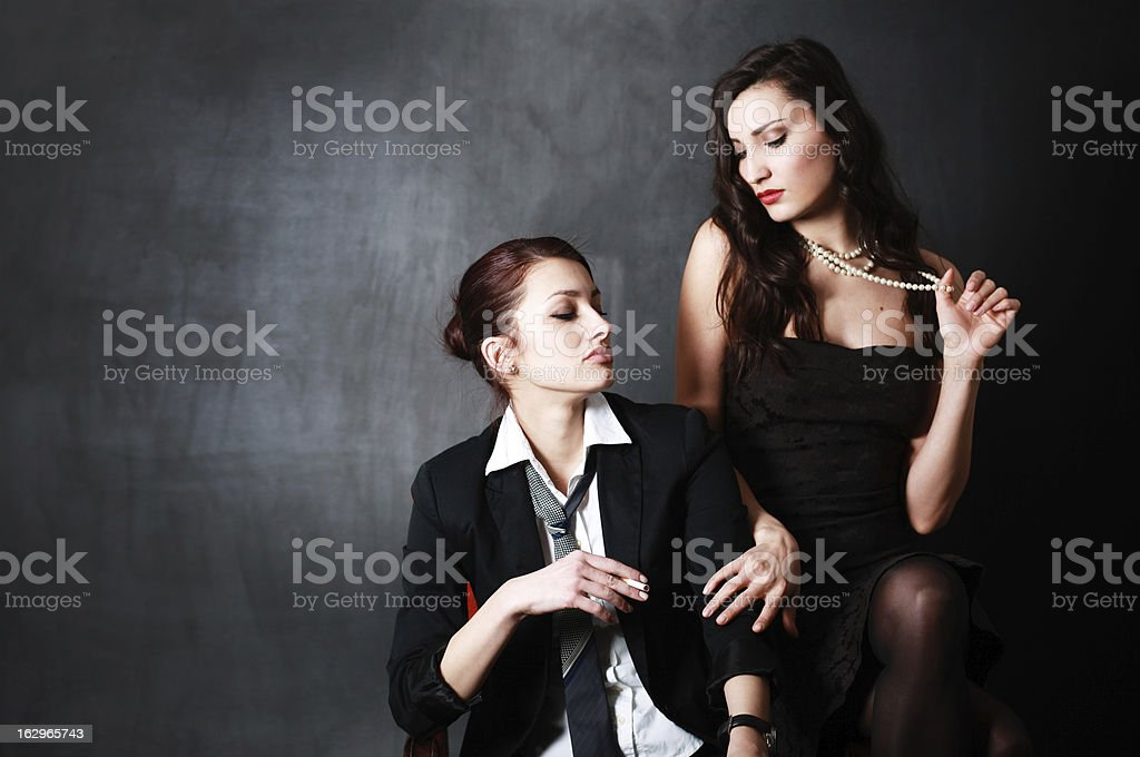 Dark seduction royalty-free stock photo