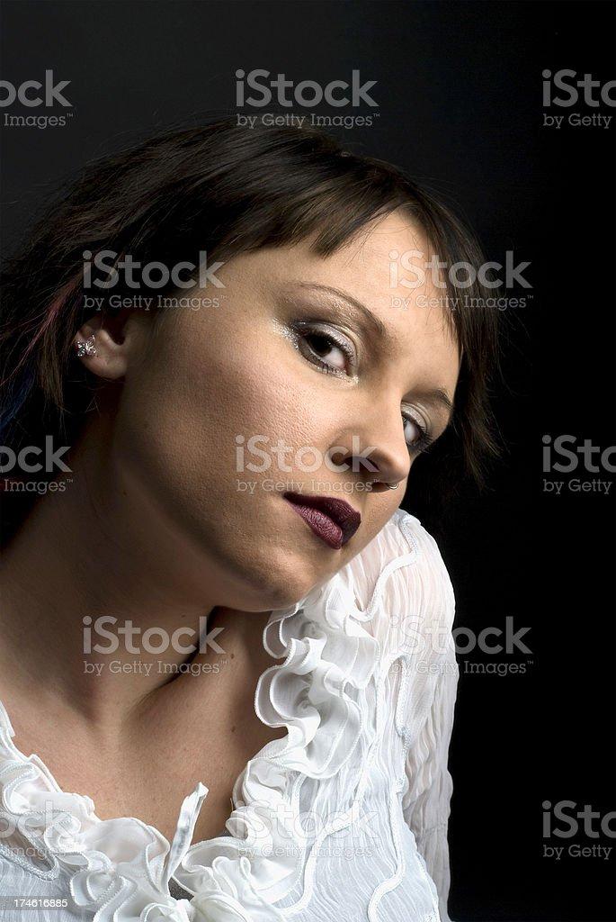 dark seduction stock photo