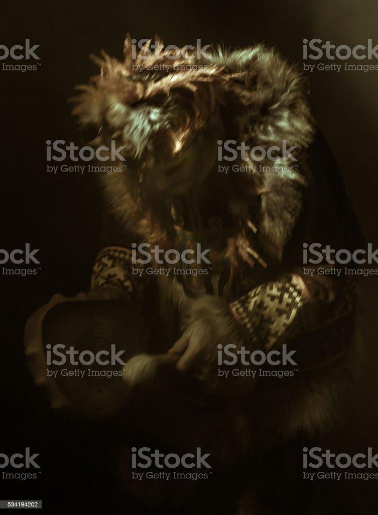 Dark Shaman stock photo