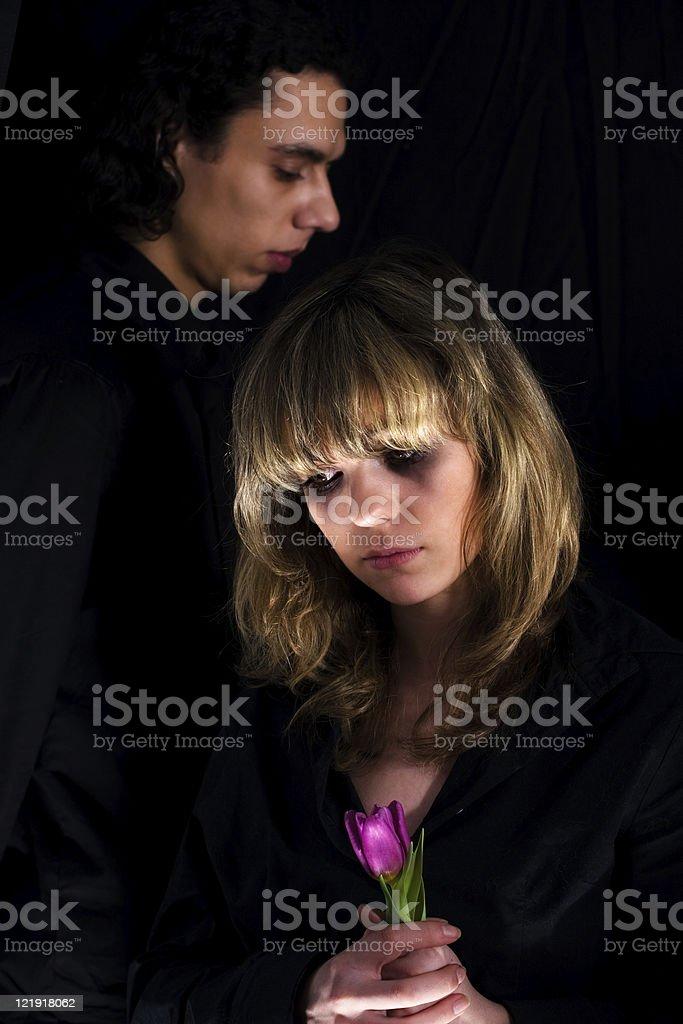 dark side couple royalty-free stock photo