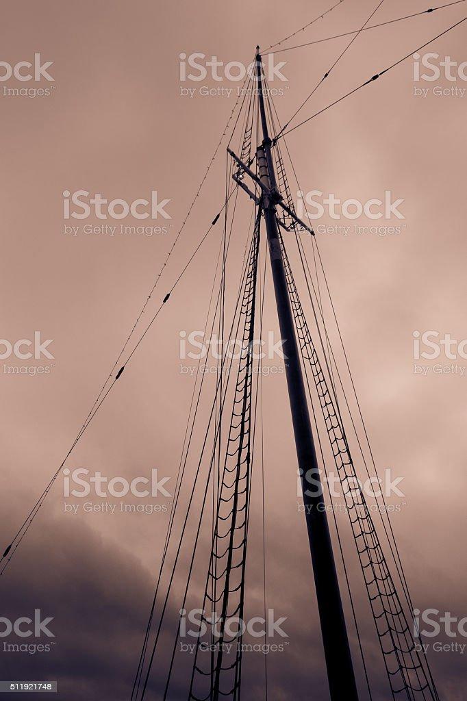 Dark skies stock photo