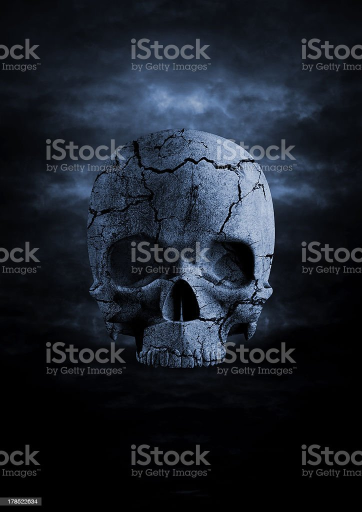 Dark skull stock photo