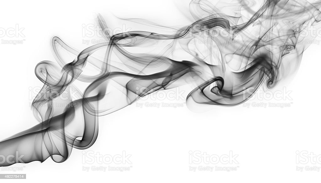 Dark smoke isolated stock photo