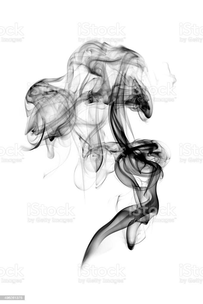 Dark smoke isolated stock photo