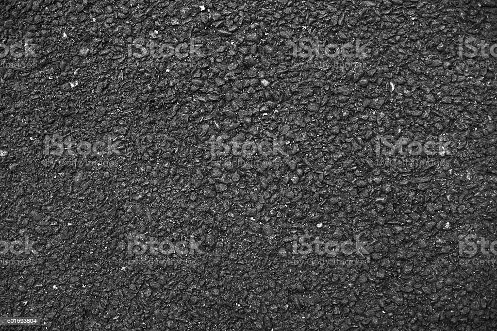 Dark solid asphalt. stock photo