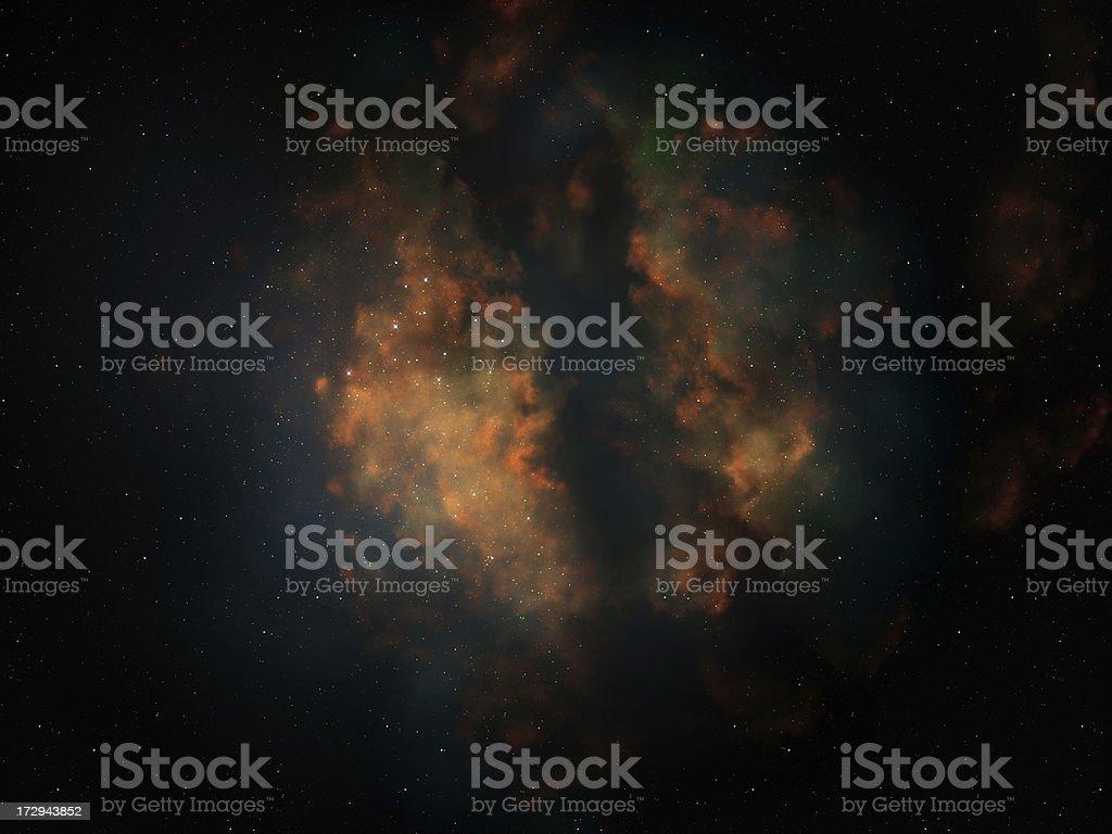 Dark Space Nebula stock photo