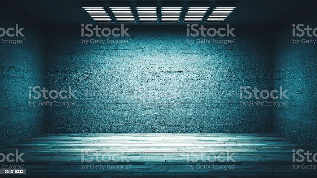 scuro di vuoto ufficio o seminterrato camera foto di stock ... - Pavimento Per Seminterrato