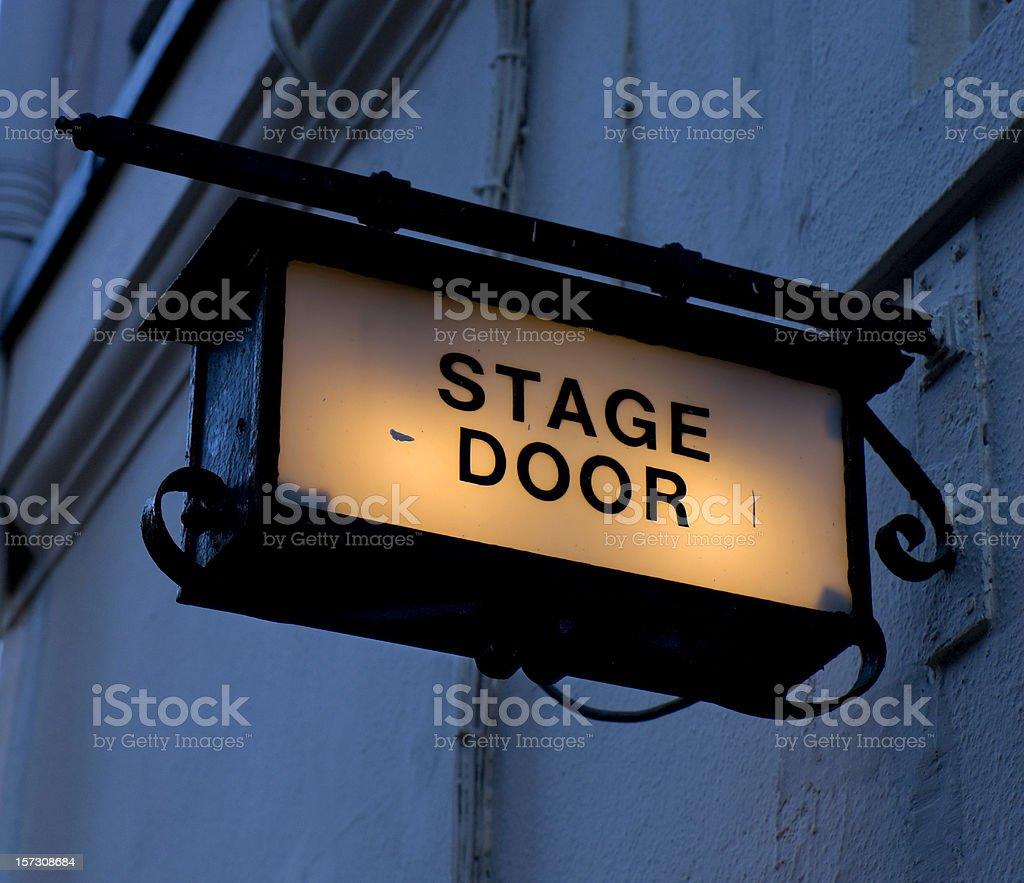 Dark stage door stock photo