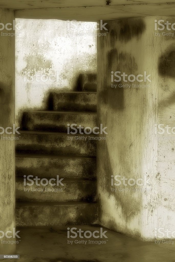 Dark Stair, Battery Russell royalty-free stock photo