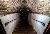 dark staircase basement