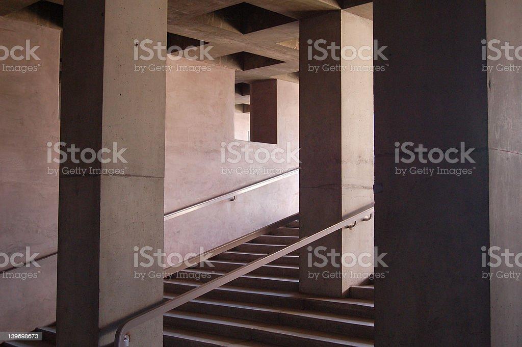 dark stairs royalty-free stock photo