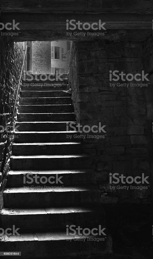 Dark Stairway stock photo
