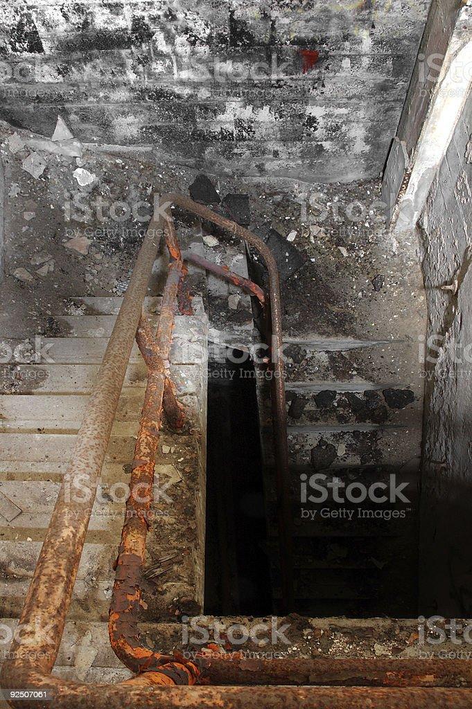 Dark Stairway royalty-free stock photo