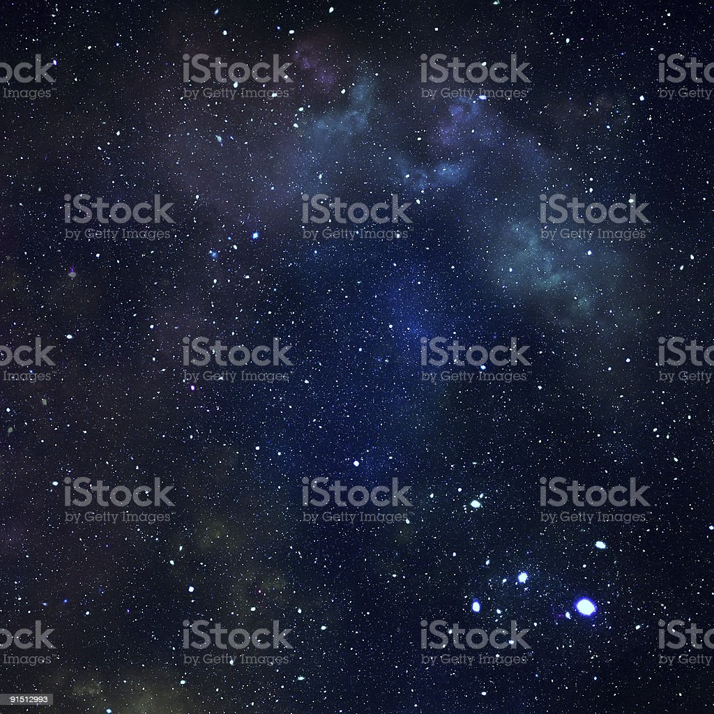 Dark starry sky stock photo