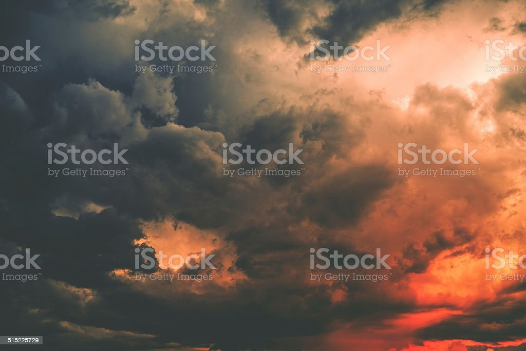 Dark Storm Cloud stock photo