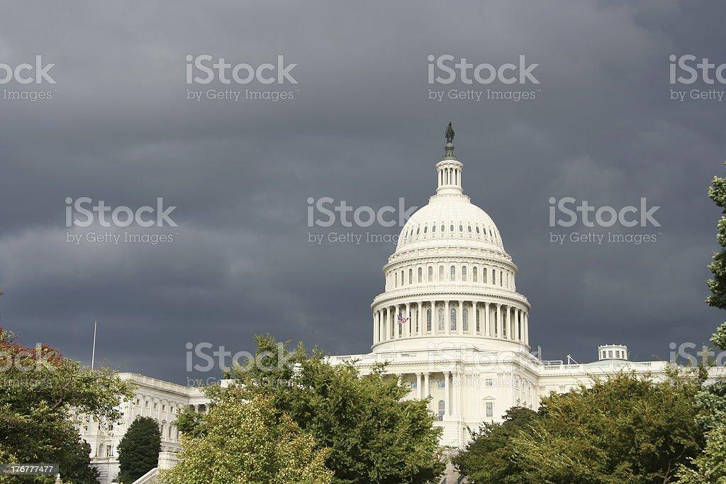 Dark Storm over Washington royalty-free stock photo