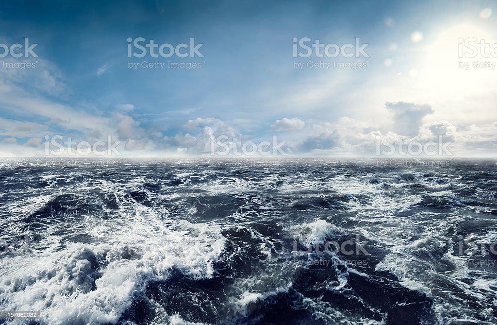 Dark stormy Sea Waters stock photo