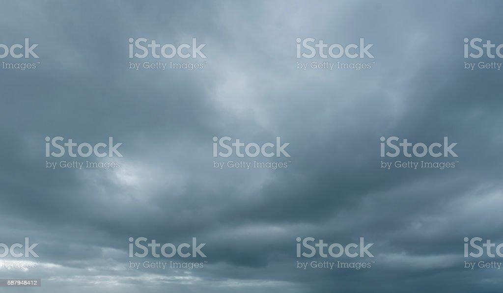 Dark stormy skies stock photo