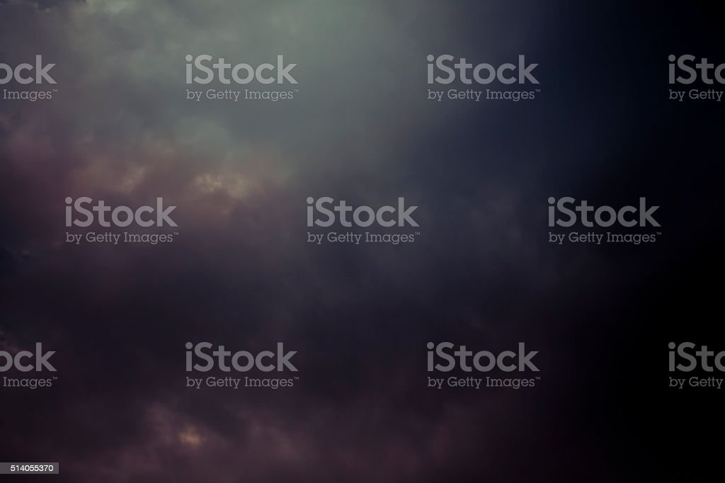 Dark stormy sky stock photo