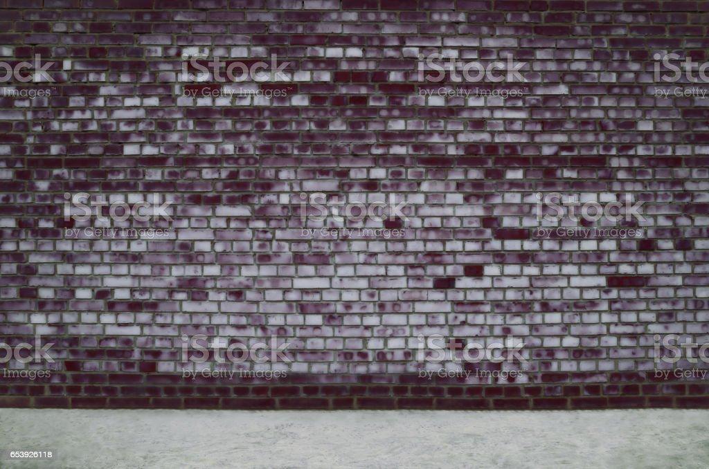 Dark street brick wall background stock photo
