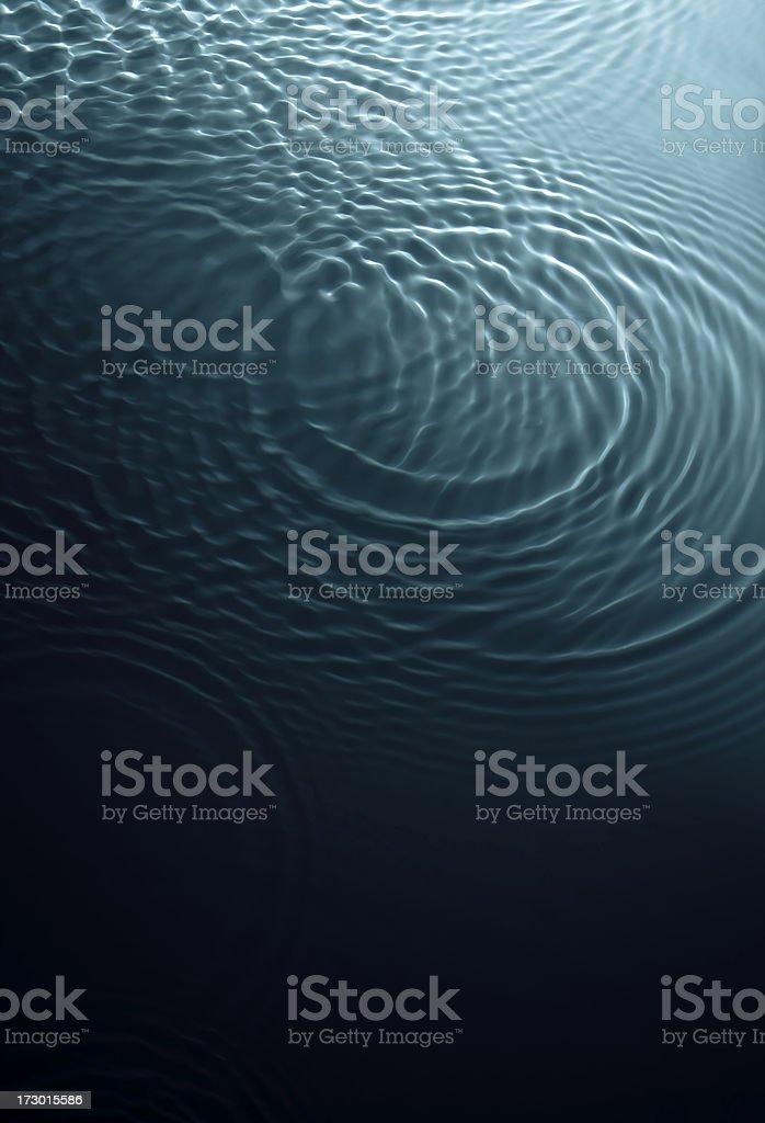 Dark swirling turquoise water royalty-free stock photo