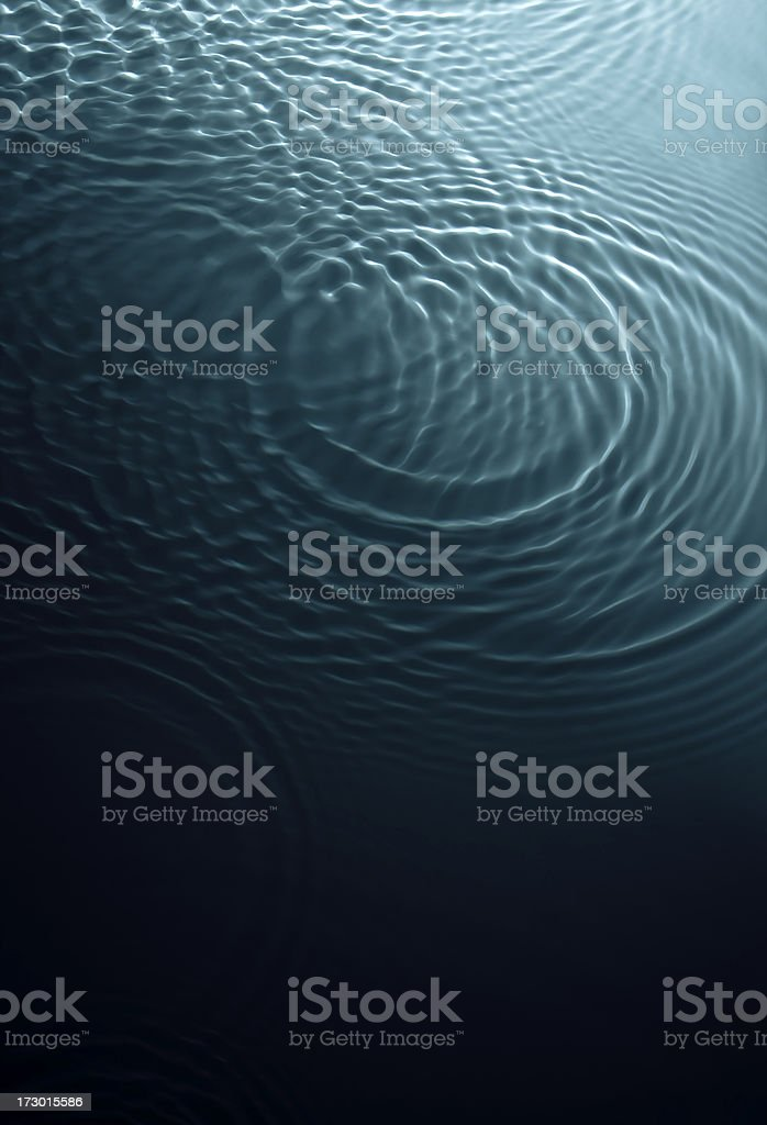 Dark swirling turquoise water stock photo