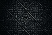 Dark temple wall pattern